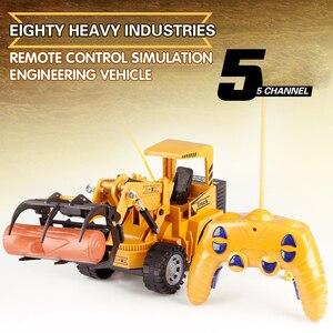 High Quality Remote Control Crane Mini RC Construction Truck Trailer Tractor 8074E Excavator Model Bulldozer Loader Engineer Car