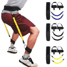 Jumping Trainer Jump Resistance Bands Fitness Bouncing Rope Leg Strength Agility Workout Equipment Tennis Running Force Training цены