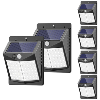 Solar Lights Outdoor, 6 Pack/3 Modes/50LED SEZAC Motion Sensor Security Lights Solar Security Lights IP 65 Wireless Waterproof O