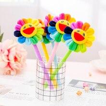 1 Pcs Creative Cute Rainbow Sun Flower Stationery Office School Supplies Gift Simulation Gel Pens