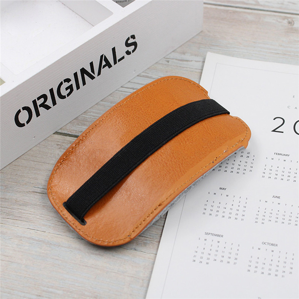 Soft PU Leather Mouse Cover For Magic Mouse 2 Full Cover Protective Case Dustproof Storage Bag For Magic Mouse 2 Accessories