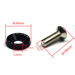 Image 5 - 10pcs M6 JDM Car Modified Hex Fasteners Fender Washer Bumper Engine Concave Screws Car styling