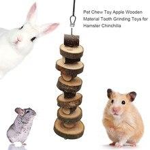 Pet Chew Toy Apple materiale di legno dente rettifica giocattoli per criceto cincillà coniglio piccoli animali gabbia per animali ciondolo giocattoli di coniglio