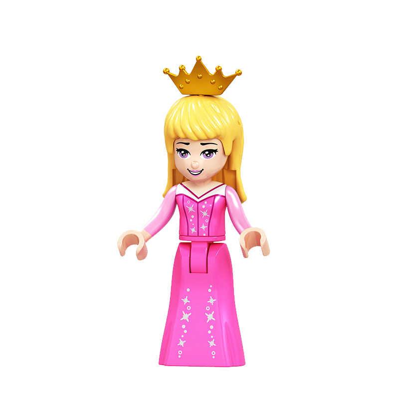 Сказочная принцесса город серия строительные блоки Золушка белая Снежная кукла Анна Капитан Америка Железный человек игрушки для детей
