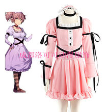 ANGEPASST Kostenloser versand Zukunft Tagebuch Mirai Nikki Uryuu Minene Cosplay Kostüm lolita kleider perücke halloween kostüm für frauen