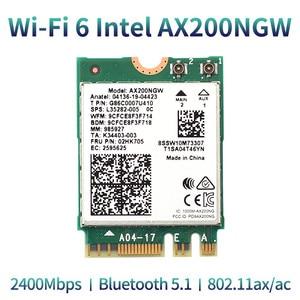 Image 5 - Desktop Wireless Wifi PCI E Adapter AX200 NGFF M.2 Wi Fi Dual Band 2400Mbps Bluetooth 5.1 Card 802.11ac/ax Windows 10