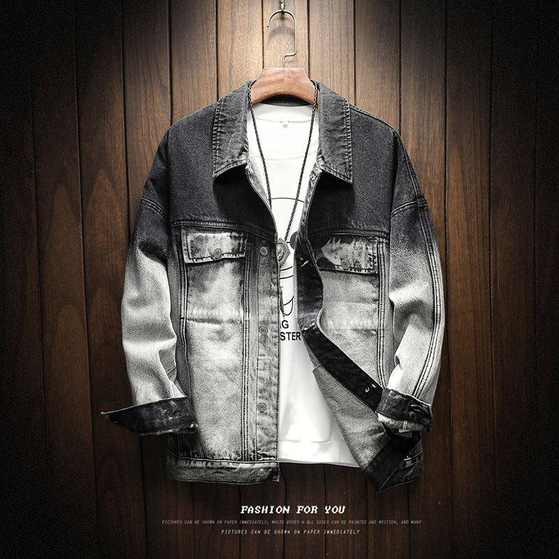 Autumn Men 39 s Tooling Denim Jackets Men 39 s Large Size Tide Loose C oat Europe United States Style Handsome Casual Trend Shirt in Jackets from Men 39 s Clothing