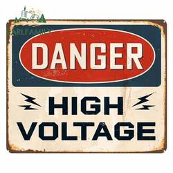 EARLFAMILY 13cm x 10.9cm for Danger High Voltage Sticker Poster Funny Car Stickers Fashion Motorcycle Car Bumper Window Decals