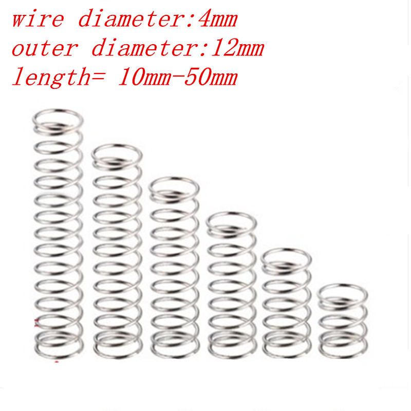 10pcs Stainless Steel Spring Compression Pressure Small Spring Diameter 5-12mm