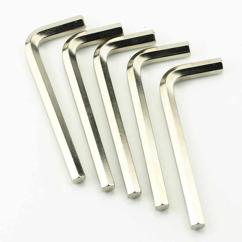 "HEX KEY ALLEN Wrench 1/16 ""- 1/4"" นิ้ว 1.5mm-6mm ขนาดเมตริกโครเมี่ยม-วาเนเดียม spanner เหล็กสั้นแขนชุดเครื่องมือ Hexagon คีย์ชุด"