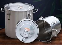 201/304 stainless steel Single bottom home brewing fermentation sealed Barrel beer wine grain oil and rice flour storage barrel