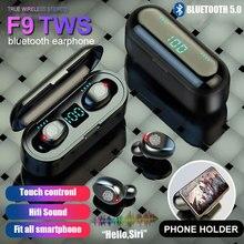 TWS Bluetooth 5,0 наушники светодиодные Беспроводные наушники шумоподавление стерео гарнитура наушники с зарядным устройством для смартфона