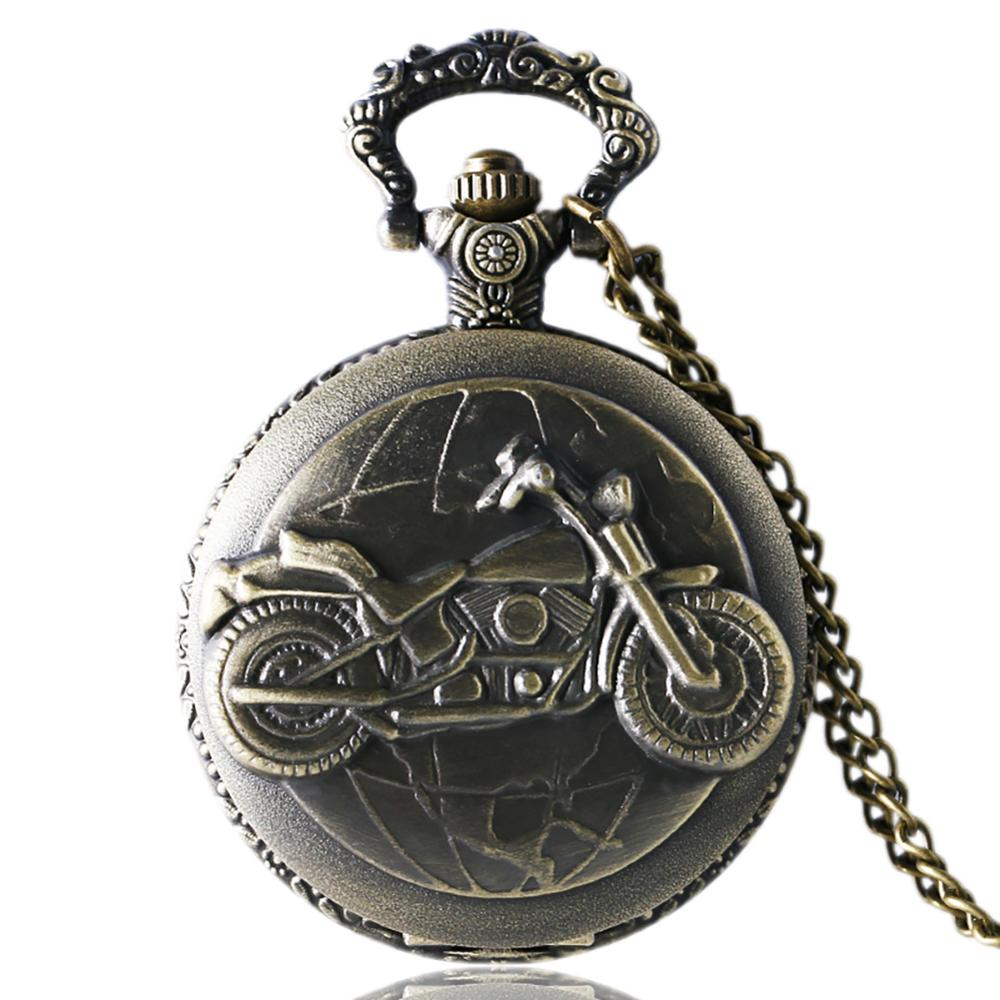Hot Sale Style Vintage Old Antique Quartz Pocket Watch Analog Pendant Best Gift For Birthday Christmas New Year With Necklace