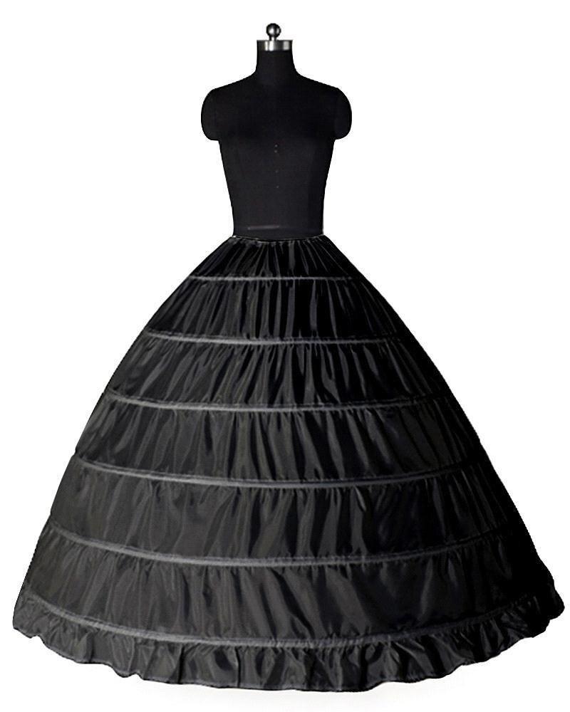 Image 4 - Wedding Accessories Petticoat Vestido Longo Ball Gown Crinoline Underskirt 6 Hoops Skirt Petticoats In Stock-in Petticoats from Weddings & Events