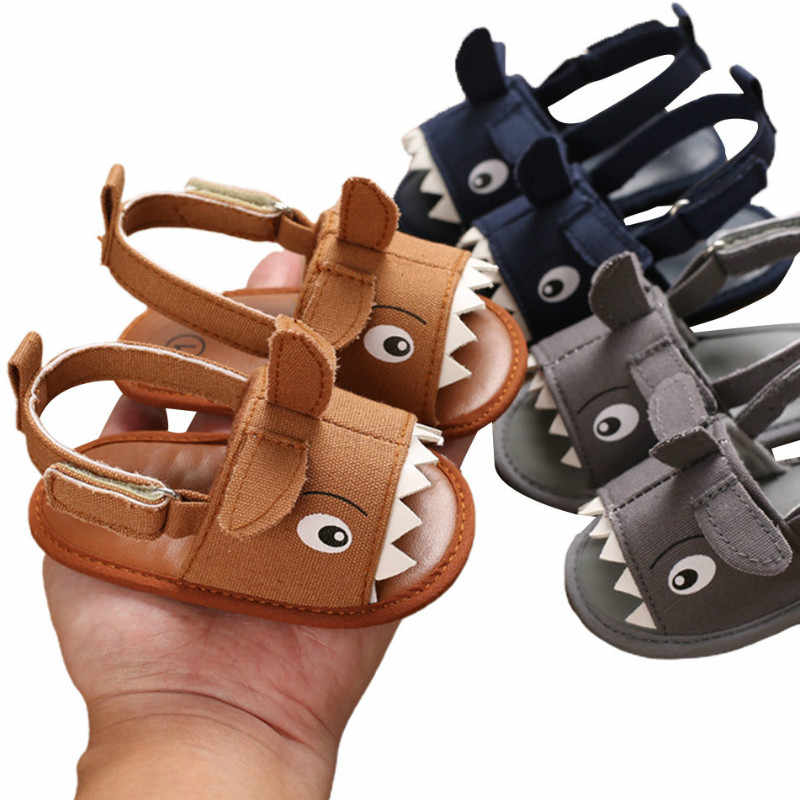 Boy Toddler Shoes Soft Sole Leather Baby Infant Mocassin Booties Shark 12-18M