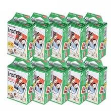 Белая пленка Fujifilm Instax Mini 10-200 листов для FUJI Instant Photo camera Mini 9 Mini 8 7s 70 90