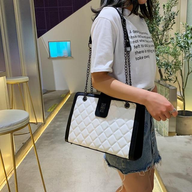 Women Leather Handbags Vintage Female Shoulder Bag Ladies Desinger Large Tote Bags for Girl Crossbody Bags Black Bag bolso mujer 5