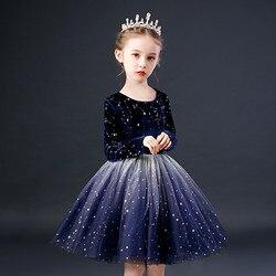 Детские платья для девочек; платье-пачка с цветочным рисунком; одежда для детей; Элегантные Платья с цветочным рисунком для детей; праздничн...