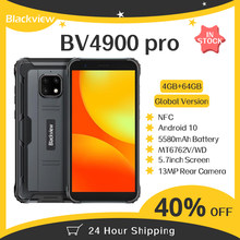 Blackview BV4900 Pro cep telefonu 4GB 64GB Octa çekirdekli Android 10 su geçirmez cep telefonu 5580mAh NFC 5.7 inç 4G cep telefonu