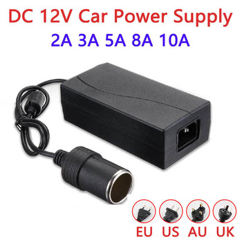 Universal EU US Plug Power Adapter Charger AC 220V to 12V 2A 3A 5A 6A 8A 10A Power adaptador 12V 2A Car Socket Cigarette lighter 1 to 2 cigarette power socket spliter individually relocatable
