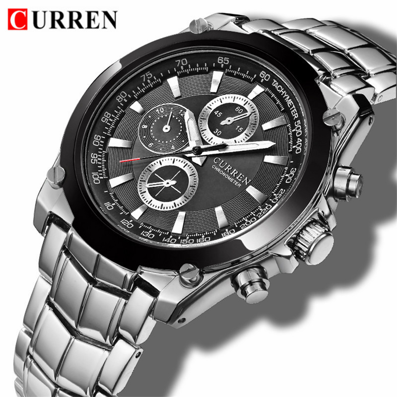 CURREN Top Brand Luxury Male Clock Business Men's Quartz Wrist Watch Military Waterproof Watch Sport Men Relogio Masculino