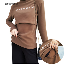 T-Shirt Home-Clothes Long-Sleeve Nurse Women Turtleneck for Spring 19035 Solid-Color