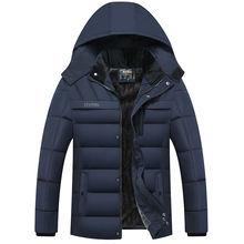 Мужская зимняя куртка Повседневная теплая Толстая с капюшоном