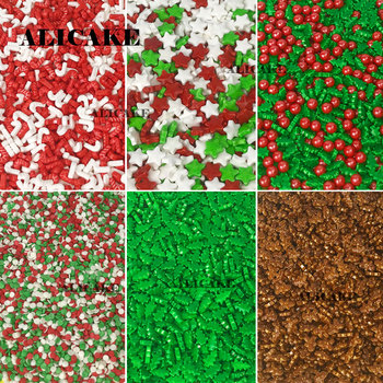 Pastel comestible navideño de 500g, aspersor de azúcar, decoración de estrella para...