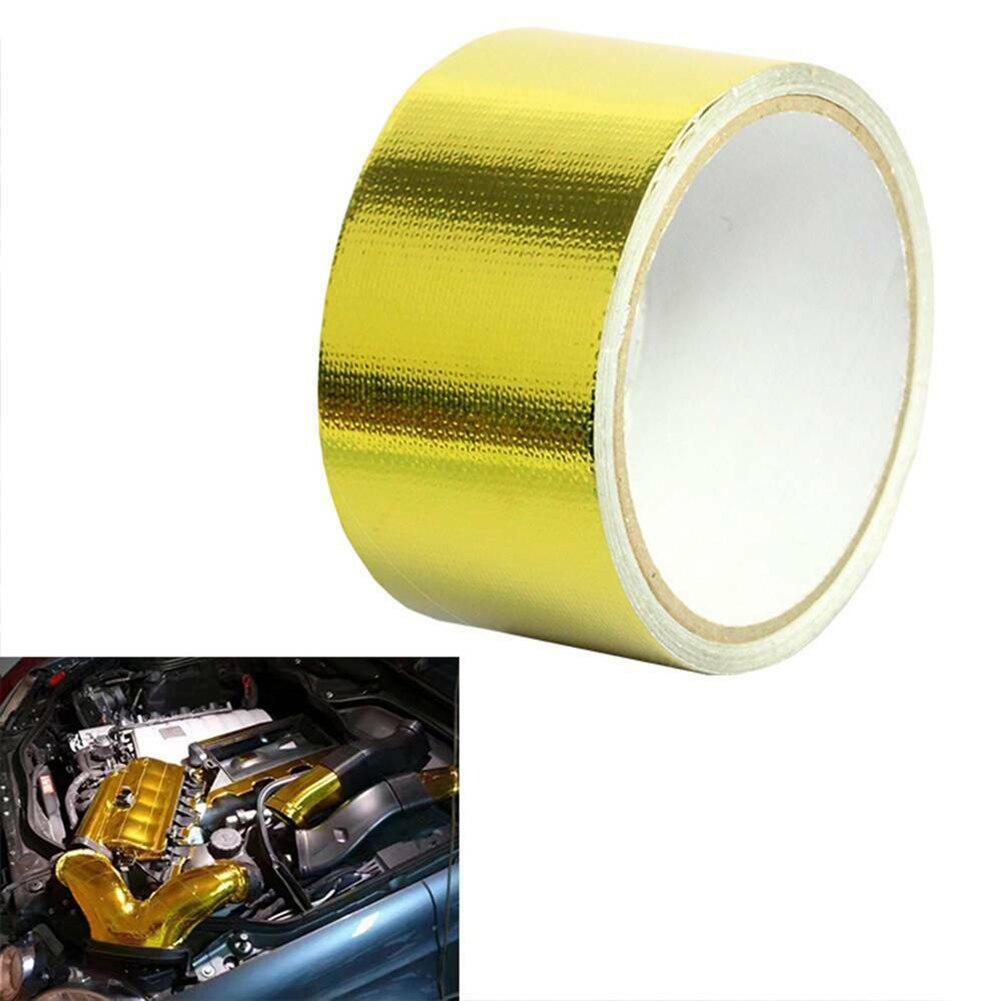 Купить светоотражающая высокотемпературная золотая рулонная клейкая
