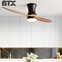 BTX Modern LED country industrial wood ceiling fan with lights wooden ceiling fan decorative ceiling lights fan light