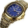 Роскошные брендовые кварцевые мужские часы ONOLA, 2019, золотые классические винтажные наручные часы, водонепроницаемые, золотые, модные повсед...