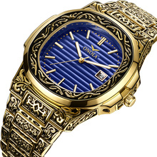 ONOLA יוקרה מותג קוורץ מקור שעון גברים 2019 זהב קלאסי בציר שעוני יד עמיד למים uniqu זהב אופנה מזדמן גברים שעון