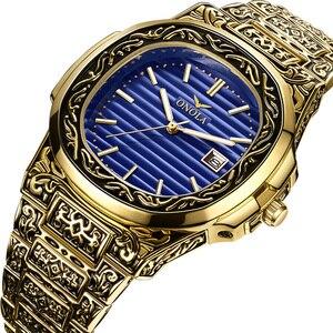 Image 1 - ONOLA Produto genuíno de luxo homens relógio de quartzo origem 2019 unique ouro clássico relógio de pulso à prova d água Do Vintage moda casual homens relógio de ouro