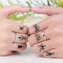 Temporary-Tattoo-Sticker Hand-Neck Spider Fake Tatto Flash-Tatoo Waterproof Girl Kids