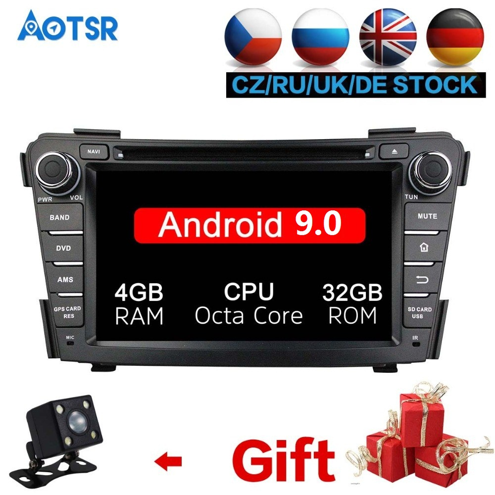 Octa Core Android <font><b>10</b></font> RAM 4GB ROM 64GB Radio Car DVD Player GPS Navigation For HYUNDAI I40 2011-2015 GPS Free Map card stereo IPS image