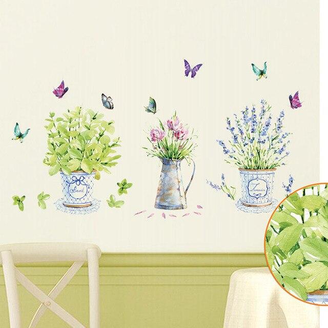 Bonsai Wall Stickers 3pcs Pot Plants 2