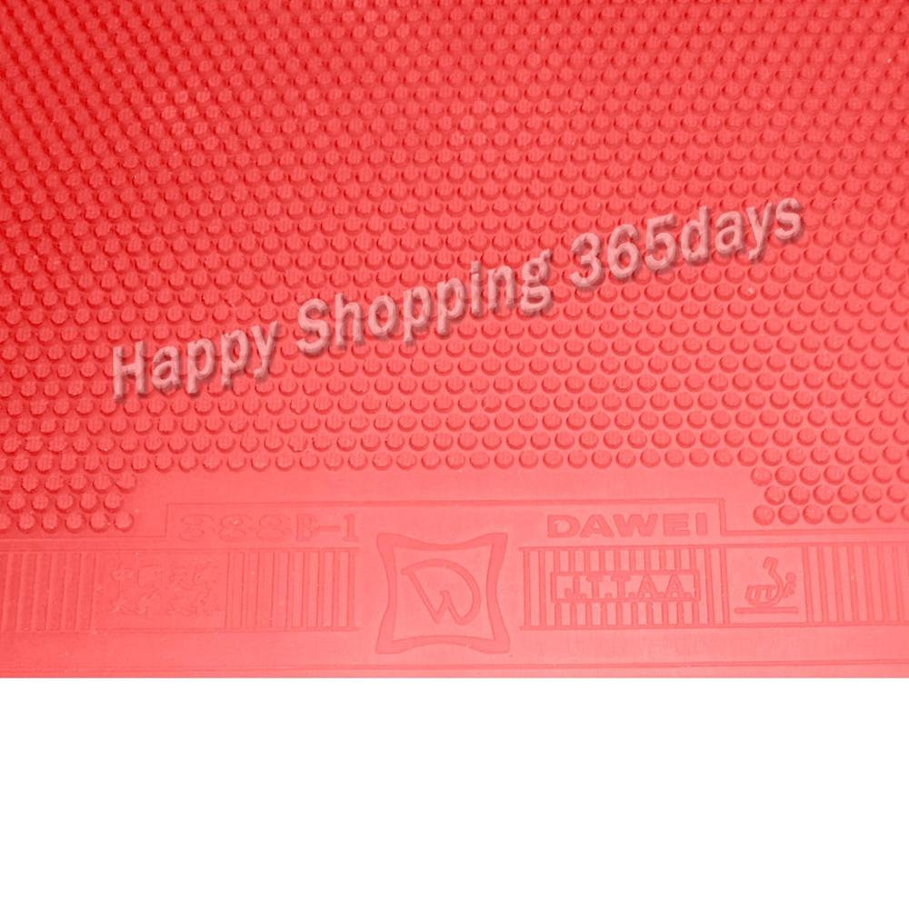 Dawei 388B-1 388B 1 Short Pips-out Table Tennis Pingpong Top Sheet Rubber Without Sponge