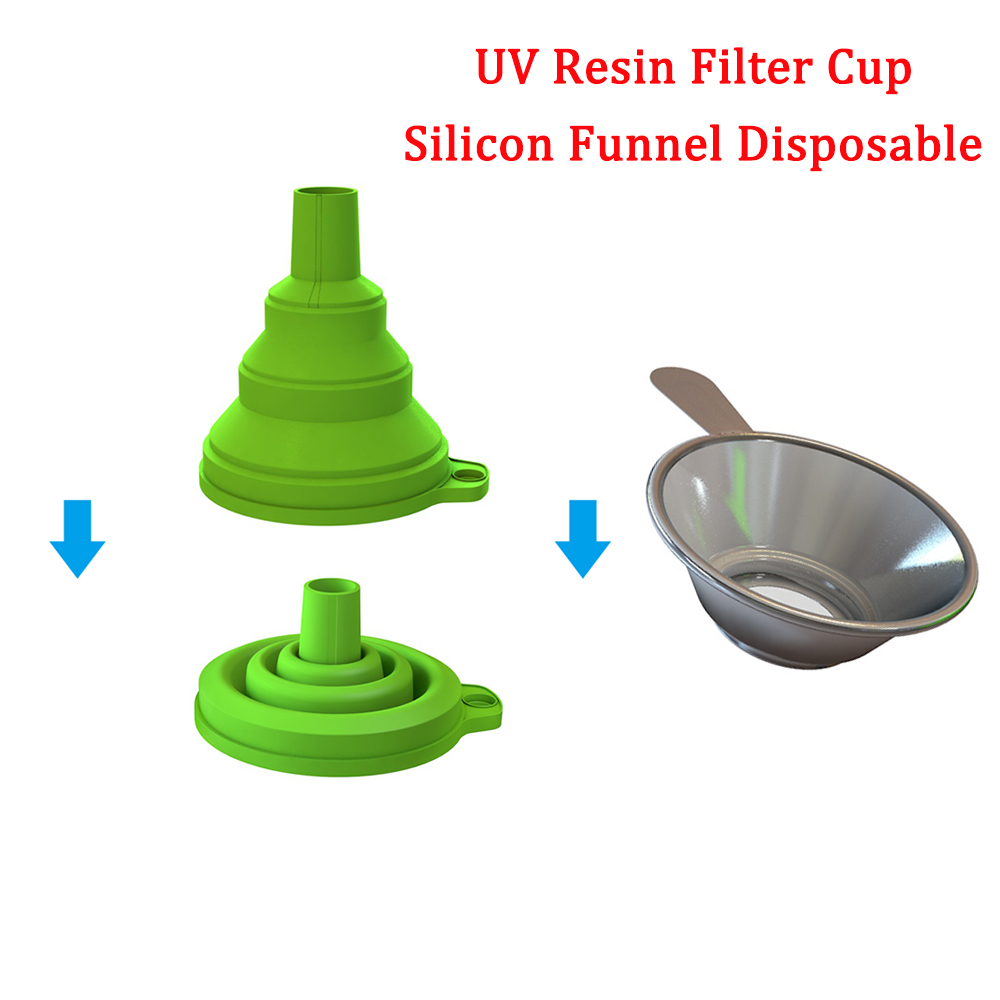 High Quality Metal UV Resin Filter Cup Silicon Funnel Disposable For Wanhao D7/D8 Photon DLP SLA 3D Printer Parts