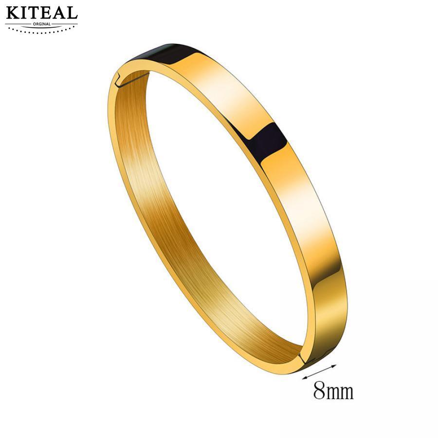 KITEAL Mode schmuck charms Gold Gefüllt Armband & Armreif Minimalismus Rund armband Schmuck für frauen
