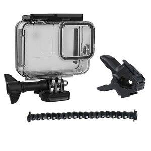Image 5 - 60m boîtier étanche sous marin pour GoPro Hero 8 coque de protection boîtier noir caméra lentille filtres 60M plongée natation ensemble