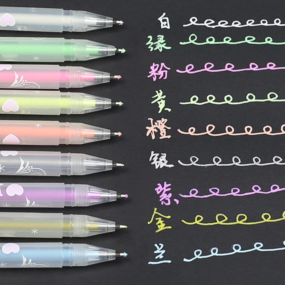 DIY Colorful Highlight Pen Student Comic Design Hook Liner Pen Sketch Drawing Graffiti Art Markers Stationery Art Supplies 1pcs