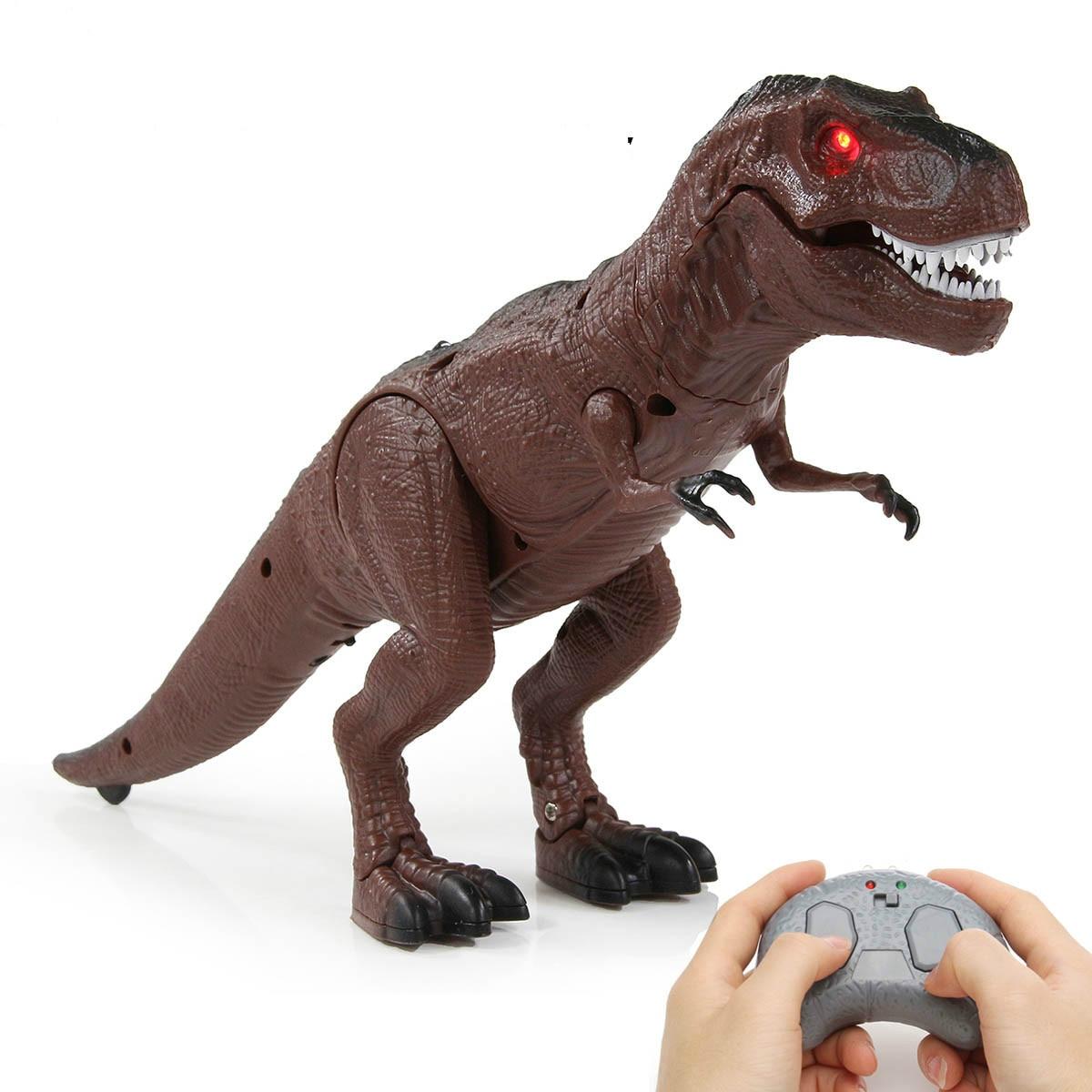 Juguete Animal inteligente modelo de juguete Control remoto infrarrojo caminar dinosaurio juguete para niños figura eléctrica RC mascota para regalo de niños 1 unidad, 30/40/60/80 CM, lindos juguetes de peluche de león marino, encantador sello de Animal marino, almohada novedosa 3D, regalo de cumpleaños para niños y bebés