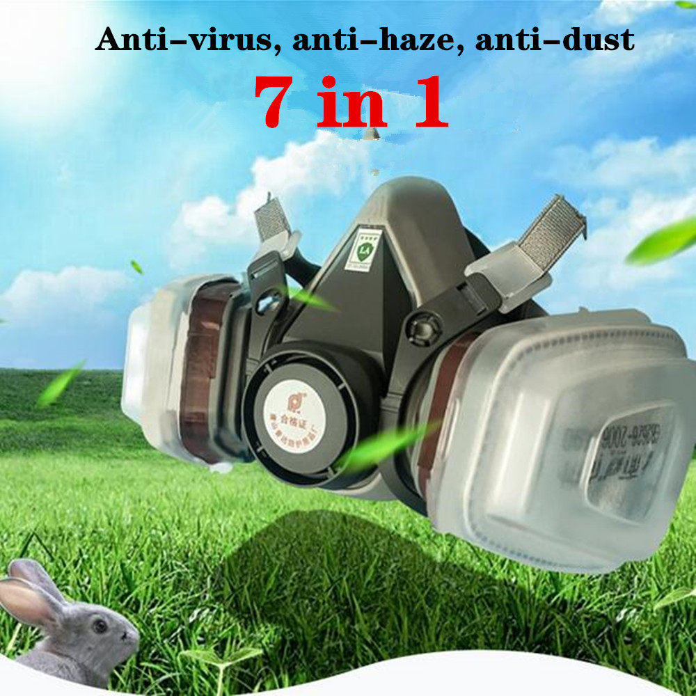 2020 High Quality Gas Mask Spray Paint Decoration Chemical Industry Protection Double Tank Dustproof Anti-dust Haze