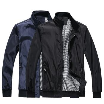 Męskie wiosenne kurtki okazjonalne męskie wiosenne płaszcze jednokolorowe casualowa kurtka motocyklowe męskie kurtki męskie kurtki baseballowe Plus rozmiar 4XL tanie i dobre opinie CHON YUN COTTON Poliester MANDARIN COLLAR men jacket Anty-pilling Oddychające Pasuje prawda na wymiar weź swój normalny rozmiar