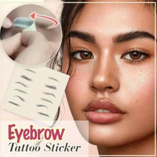2020 Magic 4D Hair-like Authentic Eyebrows Grooming Shaping Makeup Brow Shaper Brow Stickers Tattoo False Eyebrows Cosmetics 1