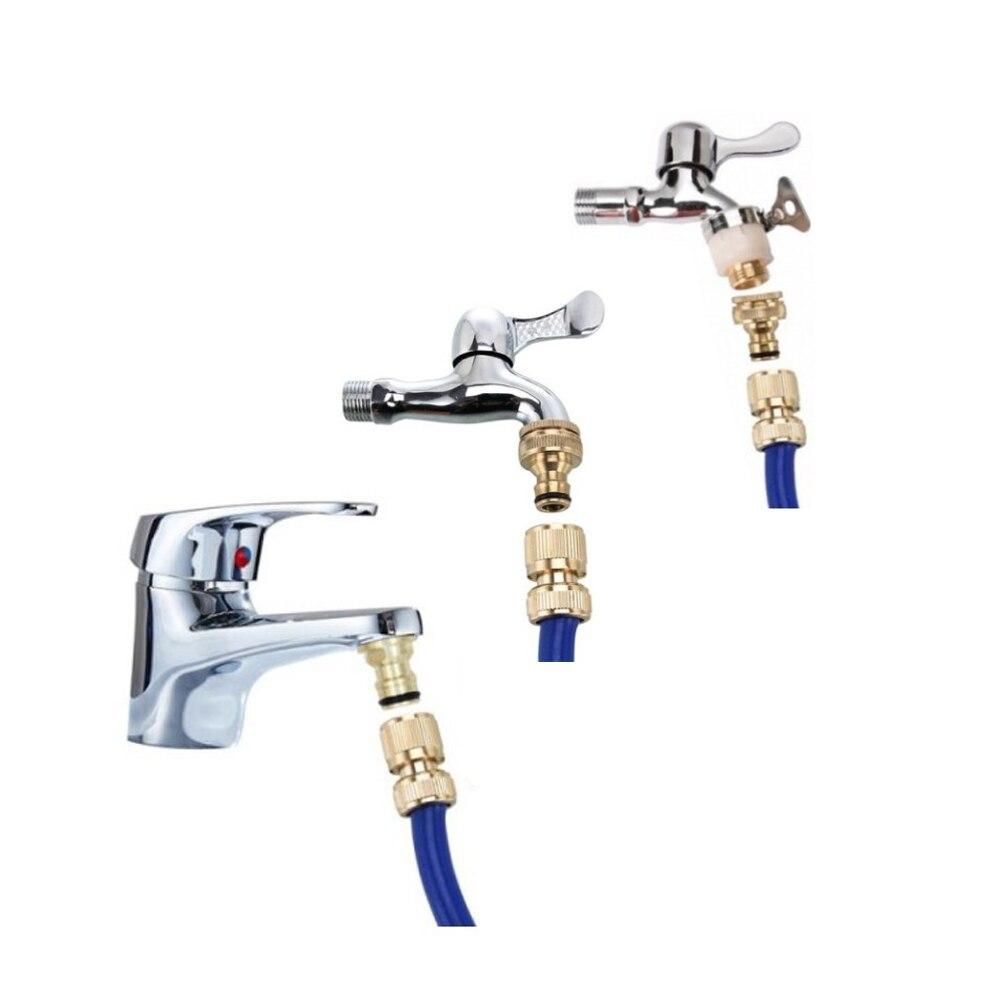 15-23 мм универсальный кухня шланг адаптер латунь кран соединитель смеситель шланг адаптер трубка шарнир фитинг сад полив инструменты