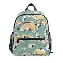 mochila infantil children school bags Japanese Cranes Anti-lost children's backpack school bag backpack for children Baby bags