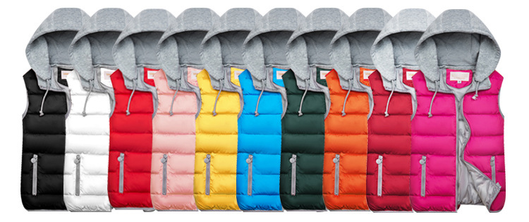 H5cd3c7a760294a81b32d70b8287c5daaD 2019 Winter Coat Women Hooded Warm Vest Plus Size Candy Color Cotton Jacket Female Women Wadded Feminina chalecos