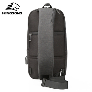 Image 2 - Kingsons New Small Backpack Leisure Travel Single Shoulder Backpack 7.9 inch Chest Backpack For Men Women Casual Crossbody Bag