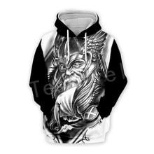 Tessffel Unisex Viking Tattoo Warriors Tracksuit Newfashion casual MenWomen 3DPrint Sweatshirts/Hoodie/shirts/Jacket s-19
